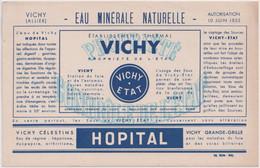 Buvard Etablissement Thermal Vichy - Hopital - V
