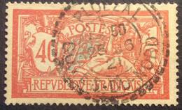 119 ° 1 Côtes Du Nord Ploëzal Tireté Merson 40c Rouge Et Bleu 26/6/1921 Oblitéré - 1877-1920: Semi-Moderne