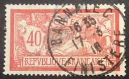119 ° 3 Finistère Bannalec Merson 40c Rouge Et Bleu 17/3/1916 Oblitéré - 1877-1920: Semi-Moderne