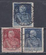 Italie N° 175 / 77 O Jubilé Du Roi Victor Emmanuel III Les 3 Valeurs Oblitérées, TB - Usados