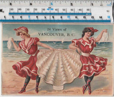 PULL OUT POSTCARD FROM VANCOUVER CANADA - 1908 - BEACH GIRLS & SHELL - Autres