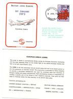 1973 Maiden Flight Airbus 02 - First Flight 1er Vol Erstflug - Letter + Team équipage Pilot Captain - Postmark Collection