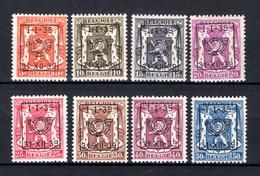 PRE420/427 MNH** 1939 - Klein Staatswapen Opdruk Type D - REEKS 16 - Typografisch 1936-51 (Klein Staatswapen)