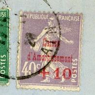AIN LAC 1928 PONCIN SUR CAISSE AMORTISSEMENT SURTAXE - 1921-1960: Moderne