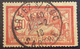 119 ° 7 Sarthe Gréez S Roc Merson 40c Rouge Et Bleu 1/2/1918 Oblitéré - 1877-1920: Semi-Moderne