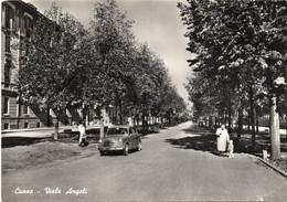 CUNEO - VIALE ANGELI ANIMATA CON AUTO D'EPOCA - VIAGGIATA 1958 - (rif. Z64) - Cuneo