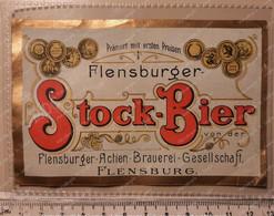 Biere Etiquette Bieretiketten Old Beer Label Flensburger Germany #A5 - Bier