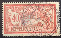 119 ° 9 Vienne Liglet Tireté  Merson 40c Rouge Et Bleu 14/4/1909 Oblitéré - 1877-1920: Semi-Moderne