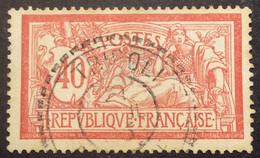 119 ° 10 Tripoli Barbarie Tireté  Merson 40c Rouge Et Bleu Oblitéré - 1877-1920: Semi-Moderne