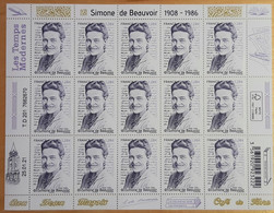 """2021 - Y/T 5473 Ou F18 """"SIMONE DE BEAUVOIR 1908 - 1986"""" - FEUILLET 15 TIMBRES - NEUF - Nuovi"""