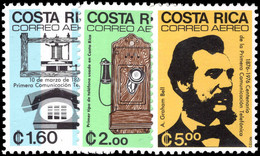 Costa Rica 1976 Telephone Centenary Unmounted Mint. - Costa Rica