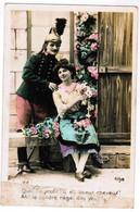 Couple D'amoureux, Couple In Love, Lady And Gentleman, Soldat Ou Pompier  (pk67934) - Koppels
