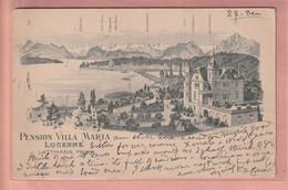 OUDE POSTKAART ZWITSERLAND - SCHWEIZ -     LUZERN - PENSION VILLA MARIA 1905 - LU Lucerne
