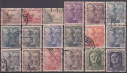 ESPAÑA 1949/1953 Nº 1044/1061 USADO REF.03 - 1931-50 Usati