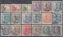 ESPAÑA 1949/1953 Nº 1044/1061 USADO REF.01 - 1931-50 Usati