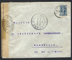 """GRECE 1916: LSC  Pour Marseille, Avec Censures Française Et """"Armée D'Orient"""" - Storia Postale"""
