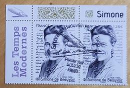 """2021 - Y/T 5473 """"SIMONE DE BEAUVOIR 1908 - 1986"""" - PAIRE ISSU FEUILLET - OBLITERE 1er JOUR 05.03.2021 - PARIS - Usati"""