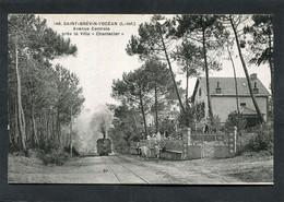 """CPA - SAINT BREVIN L'OCEAN - Avenue Centrale Près La Villa """"Chantecler"""", Animé - Arrivée Du Tramway - Saint-Brevin-l'Océan"""