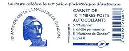 Carnet 60 Ans De La Marianne De Gandon Yvert&Tellier N° 1514 - Uso Corrente