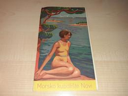 Tourism Brochure, Tourist Guide, Morsko Kupalište Novi, Czechoslovakia Stamp Oficiální CK Království Jugoslávie - Dépliants Touristiques