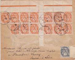 23203# BLANC N°109 * 13 MILLESIME 3 + 107 ENVELOPPE TARIF LETTRE SIMPLE Obl PARIS 1926 BOURBON LANCY SAONE ET LOIRE - 1877-1920: Periodo Semi Moderno