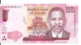 MALAWI 100 KWACHA 2016 UNC P 65 B - Malawi
