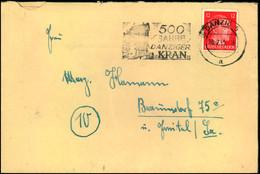 """1945, Späte Post Mit Seltenem Werbestempel 500 Jahre Krantor, """"DANZIG 5 A 10.2.45 - Other"""