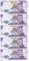 MALAWI 20 KWACHA 2016 UNC P 63 C ( 5 Billets ) - Malawi