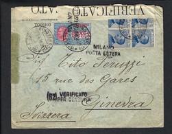 ITALIE 1915: LSC  De Milan Pour Genève, Censure Italienne - Storia Postale
