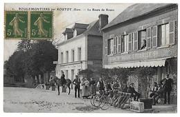 ROUTOT  Environs  ROUGEMONTIERS  Route De Rouen   (recto-verso) - Routot