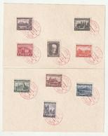 0009 / Tschechoslowakei - 1928 - Mi. 267-276 (ohne 273) Auf 2 Karten, Roter SSt. / € 1.50 A - Covers & Documents