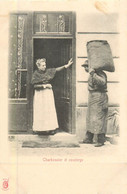 PARIS Pittoresque ,les Petits Métiers éditeur KF (carte 1900) - Charbonnier Et Concierge  - - Artigianato Di Parigi