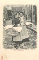 PARIS Pittoresque ,les Petits Métiers éditeur KF (carte 1900) -les Blanchisseuses  - - Artigianato Di Parigi