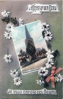 Belgique - Heist-op-den-Berg - Fantaisie D'Heist-op-den-Berg Je Vous Envoie Ces Fleurs - Zicht Op Den Kerk - Heist-op-den-Berg