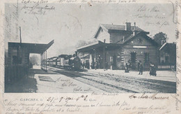 TF - 92 - GARCHES - Précurseur - La Gare - Cachet Depart MARLY LE ROI - Arrivée BARMEN En Prusse Rhenane - Garches
