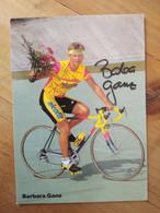 Cyclisme - Carte Publicitaire ALCOFIT : Barbara GANZ Signé - Cycling
