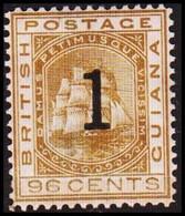 1881. BRITISH GUIANA. Fregat Sandbach 1 On 96 CENT Hinged.  (Michel 51) - JF416073 - Guyane Britannique (...-1966)
