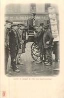 PARIS Pittoresque ,les Petits Métiers éditeur KF (carte 1900) -  Cocher Et Sergent De Ville ( La Contravention)   - - Artigianato Di Parigi