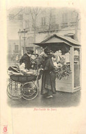 PARIS Pittoresque ,les Petits Métiers éditeur KF (carte 1900) -  La Marchande Fleurs   - - Artigianato Di Parigi