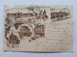 #2 Allemagne Germany Deutschland Gruss Aus Osnabruck Osnabrück 1897 Litho Postcard Circulated , Circuler 2 Scans - Osnabrueck