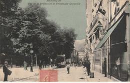BESANCON - Rue De La Préfecture Et Promenade Granvelle. Edition Liard, Bleutée. Circulée En 1906. Bon état. - Besancon