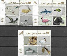 UN, 2020, MNH, THREATENED SPECIES, BIRDS, WHALES, SHARKS, LIONS, WILD SHEEP, 12v - Otros