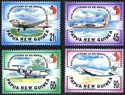 Papouasie Papua New Guinea 1993 Douglas DC-3,  Friendship, Dash-Seven Air Niugini (YT 690 , Mi 694, SG 696) - Airplanes