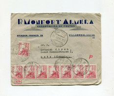!!! ESPAGNE, LETTRE DE VILLARREAL DE 1941 POUR METZ, CENSURE ALLEMANDE AU DOS - 1931-50 Brieven