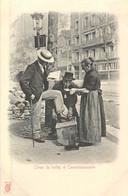 PARIS Pittoresque ,les Petits Métiers éditeur KF (carte 1900) -  Cireur De Bottes Et Commissionnaire - - Artigianato Di Parigi