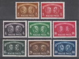 SERIE NEUVE DE HONGRIE - SERIE DES MARTYRS N° Y&T 732 A 739 - 2. Weltkrieg