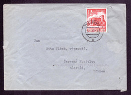 DR B+M Brief  TRAUTENAU - Červený Kostelec TSCHECHIEN - 29.11.40 - Mi.756 - Occupazione 1938 – 45