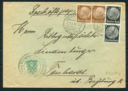 1938 Germany Kolleda Stag Hirsch Cover - Storia Postale