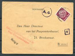 1941 Germany Gemeinschaftslager Kiel-Elmschenhagen Forced Labour Camp Postcard - Paspoortenbureel Brussel Begium - Storia Postale