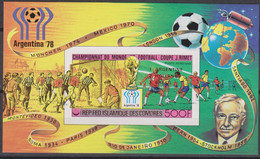 Soccer World Cup 1978 - SPACE - COMORES - S/S Imp. Red Ovp De Luxe MNH - 1978 – Argentine